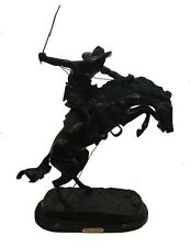 """""""Bronco Buster,"""" by Frederic Remington, Hand Cast Bronze on Bevelled Marble Base"""