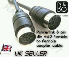 Midi Powerlink Cable Extender coupler joins 3,5,7,8 pin din female - female