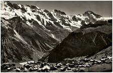 Mürren Berner Oberland Schweiz 1953 gelaufen Totale mit Mittaghorn Breithorn