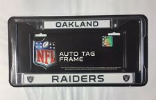 Oakland Raiders Chrome Metal License Plate Frame - Auto Tag Holder - NEW