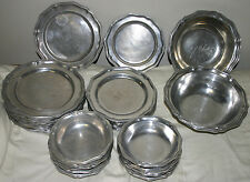 VINTAGE WILTON RWP COLUMBIA ARMETALE PEWTER WARE 32 pc. QUEEN ANNE DINNER SET
