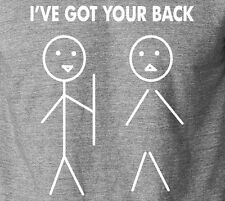 I'VE GOT YOUR BACK Friendship T-Shirt 100% Ringspun Stick Deadpool War Bros Tee