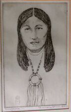 BRANSON STEVENSON RARE PORTRAIT OF SACAJAWAE INDIAN GUIDE LEWIS AND CLARK