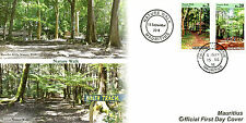 Mauritius 2016 FDC Nature Walks 2v Set Cover Plants Trees Stamps