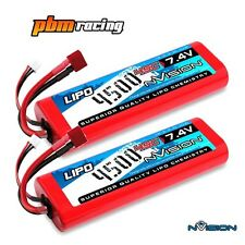 NVISION SPORT 4500 7.4 V 45 C LIPO RC HARD CASE DEANS BATTERIA Twin Pack nvo1109