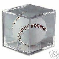 (24) BASEBALL CUBES DISPLAY HOLDER w/ CRADLE with UV