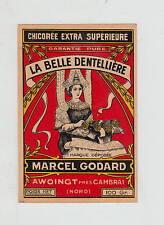 Ancienne étiquette Chicorée   La  Belle  Dentellière