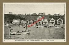 Schensky Helgoland Südstrand Häuser Unterland Fischkutter Nordsee Friesen 1909