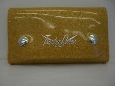 Trophy Queen Trucker Wallet Marigold Glitter Retro Pinup Rockabilly Hotrod