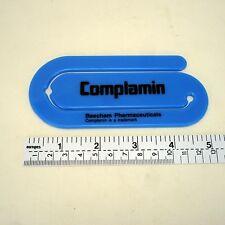 "Vintage promo large size paper clip 5"" long prescription drug Complamin Beecham"