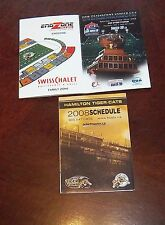 CFL Schedule Hamilton Tiger- Cats pocket schedule 2008