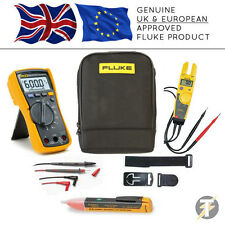 Fluke 115 True RMS Multimeter + T5-600 + TPAK3 + 1AC + C115 Case