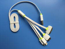 Quick Charge Multi function 4 in 1 usb charge cable f iPhone Samsung HTC moto LG