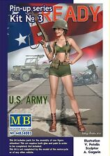 Master Box Pin Up Series US Army Girl Figure ALICE Model kit 1/24