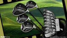 "NEW +2"" BIG TALL COMPLETE FBS XL GOLF CLUB IRONS DRIVER WOODS 4-SW IRON SET BAG"