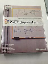 Microsoft Office Visio Professional 2003 Edition Full Retail Sealed D87-01532