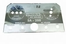 Lincoln SA-200 BLACKFACE MIRRORED STAINLESS STEEL FACEPLATE L5171 BW135