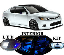 Blue LED Package - Interior + License Plate + Reverse for Scion tC (11 pieces)