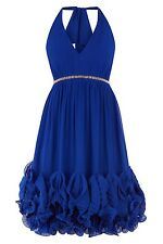 "BNWT "" Coast "" Size 12  Gloria Blue Prom Evening Cruise Wedding Ballgown Dress M"