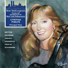 CYNTHIA PHELPS : PRINCIPAL VIOLA, NEW YORK PHILHARMONIC / CD - TOP-ZUSTAND