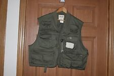 Ausable Fly Fishing Green Vest Large & Box Of 80 Flies