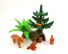 PLAYMOBIL~Farm~Animals~Tree~Log Den~Fox~Butterfly~Forest~Zoo~Park~Greenery