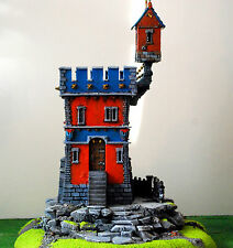 "WARHAMMER age of sigmar WAR GAME SCENARY ""WATCH TOWER OF MORDHEIM"" PRO PAINTED"