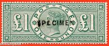"""SG. 212 s. K17 t. £1.00 Green """" KB """". A fine mounted mint example overprinted."""