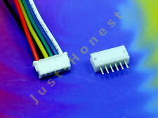KIT BUCHSE +STECKER 6 polig/pins 1.5mm HEADER + Male Connector PCB #A646