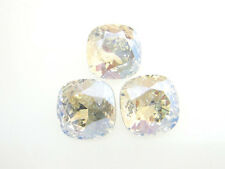Swarovski Square Cushion Cut Stones Art. 4470 10mm Crystal Moonlight 3 Pieces cc