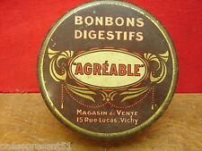 Jolie ancienne boîte en tôle, Agréable, Vichy