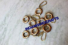 150 PCS LIFE RING KEYCHAIN BRASS CHARM COLLECTIBLE KEYRING NAUTICAL DECOR GIFT