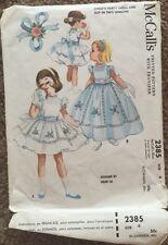 Vintage 1950s McCall's 2385 Party Dress Slip Pattern Size 4