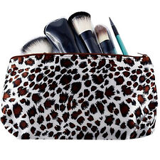 Multifunction Leopard Travel Cosmetic Bag Makeup Pouch Toiletry Wash Organizer W
