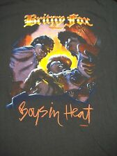 "BRITNY FOX ""BOYS IN HEAT TOUR 1989-90"" VINTAGE TOUR T-SHIRT LARGE 1990 METAL ETC"