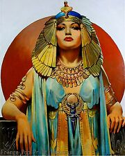 Art Deco Cleopatra Art Print 8 x 10 - Flapper - Jazz Age - Egyptian - Egypt
