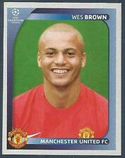PANINI UEFA CHAMPIONS LEAGUE 2008-09- #015-MANCHESTER UNITED-WES BROWN