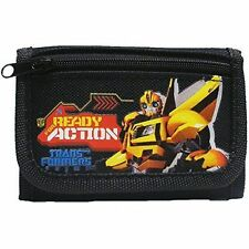 TRANSFORMERS READY FOR ACTION BLACK TRI-FOLD EASY CLOSURE WALLET-NEW WITH TAGS!