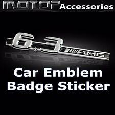 6.3AMG 3D Metal AMG 6.3 Logo Front Badge Emblem Sticker Decal Self Adhesive