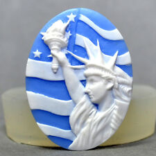 Statue of Liberty CAMEO - SILICONE MOULD,resin, fimo, plaster, polymer clay mold