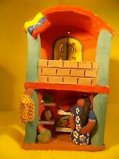 COLOMBIA CLAY- TERRACOTTA POTTERY- FOLK ART-HAND MADE- HANGING HOUSE-FRUIT STORE
