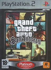Grand theft auto: san andreas platinum (PS2), bon état playstation 2 vide