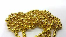 1 meters Gold Plated Ball Chain - 3mm Ball - A5436