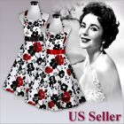 50s Rockabilly Pinup Swing Evening Party Wedding Prom Vintage Retro Dress