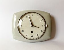 Vintage Art Deco style 1960s Ceramic Kitchen Wall clock JUNGHANS Made in Germany