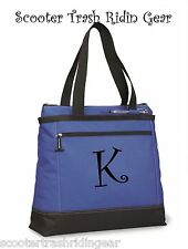 Personalized Tote bag book monogrammed blue NEW business diaper teacher Nurse