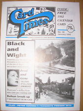 CARD TIMES MAGAZINE FORMERLY CIGARETTE CARD MONTHLY No 30 JANUARY 1992