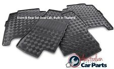 Floor Mats Rubber Front  Rear Set Nissan Navara D40 Genuine 2008-15 DC Thaibuilt
