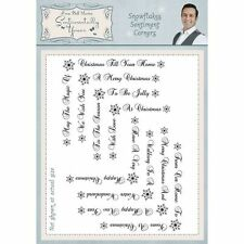 Creative Expressions Phil Martin Clear Stamp Set - Snowflakes Sentiment Corners