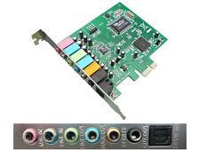 Carte Contrôleur PCIE SON 7.1 8 CANAUX - CHIPSET VIA ET TEXAS INSTRUMENTS